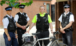 PCSO Glenn Baker, Pictured on the Left